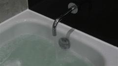 Filling Bathtube Washbasin 2 Stock Footage