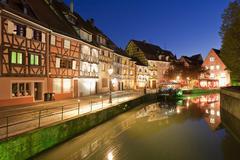 France, Alsace, Colmar, Krutenau, Quai de la Poissonnerie, View of La Petite Stock Photos