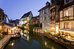 France, Alsace, Colmar, Krutenau, View of La Petite Venise quarters with Stock Photos