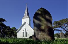 Waimati north church, nz Stock Photos