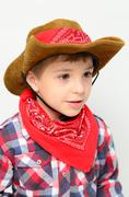 little cowboy - stock photo