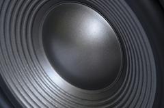 loudspeaker membrane - stock photo