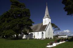 waimati north church, nz - stock photo