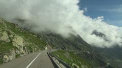 Driving along the Gotthard Pass - Switzerland Stock Footage