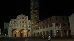 Downtown Lucca, Italy - stock footage