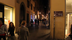 Main Street Lucca, Italy Stock Footage