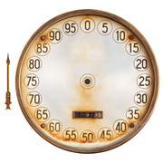 Vintage meter of a petrol pump with separate indicator isolated on white Stock Photos