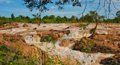li phi waterfall - stock photo