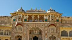 amber fort - stock photo