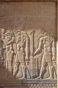 egyptian engraved gods - stock photo