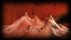 Mountains wireframe Stock Footage