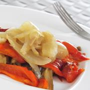 Stock Photo of escalivada, typical vegetables dish of catalonia, spain