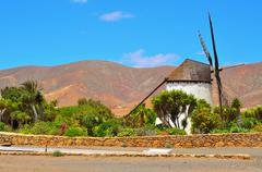 windmill in antigua, fuerteventura, canary islands, spain - stock photo
