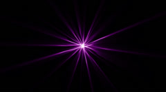 Star Abstract Shine BG Purple Stock Footage