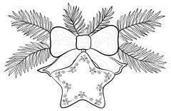 Christmas star, contours Stock Illustration