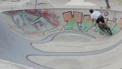Skateboard BMX 04 Stock Footage