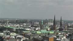 Hamburg Germany Aerial 20 Stock Footage