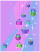 Stars and gifts Stock Illustration