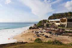 Indonesia, Bali Island, Bukit Peninsula, View of Dreamland Beach Stock Photos