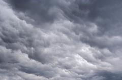 rainy clouds - stock photo