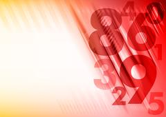 red numbers - stock illustration