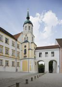 Stock Photo of Germany, Bavaria, Freising, View of dom st.maria and st. corbinian