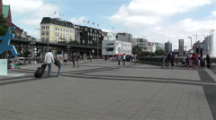 Hamburg Germany Landungsbrucken 1 Stock Footage