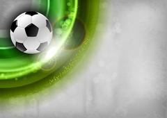 Green soccer Stock Illustration