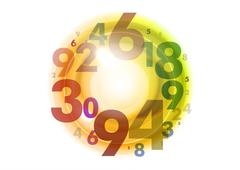 circle of numbers - stock illustration