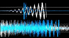 Blue audio waveform Stock Footage