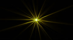 Star Abstract Shine BG Yellow LOOP Stock Footage