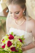 USA, Texas, Close up of young bride Stock Photos