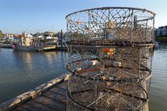 Crab Pots on the Dock, Steveston - stock photo