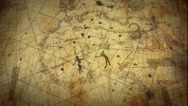 Stock Video Footage of Ancient Map on Scroll Paper