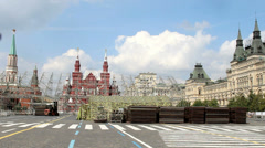 Construction Staging at Red Square Stock Footage