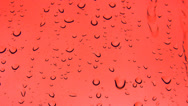 Stock Video Footage of Red rain drops background