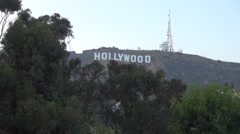 hollywood sign timplapse - stock footage