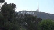 Stock Video Footage of hollywood sign timplapse