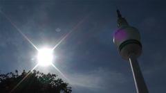 Heinrich Hertz Tower Hamburg Germany 3 Stock Footage