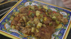 Stock Video Footage of Braised Chicken With Vegetables