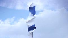 Israeli national flag waving on flagpole. Israel, Palestine, click for HD Stock Footage