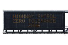 Zero tolerance area sign isolated Stock Photos