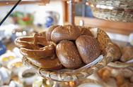Stock Photo of Germany, Pretzel and various special Bavarian pastries for breakfast buffet in