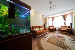 Aquarium in a room Stock Photos