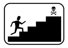 Running towards death Stock Illustration