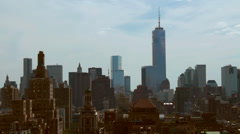 Freedom tower view Stock Footage