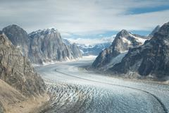 Glacier in denali (mt. mckinley) Stock Photos