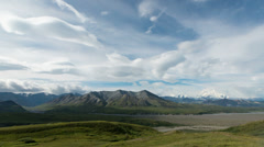 Denali, Alaska (Mt. McKinley) Wide Timelapse Stock Footage