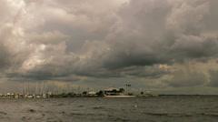 Marina cloudy sky time lapse Stock Footage