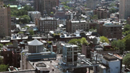 Stock Video Footage of New york birds eye view of midtown buildings